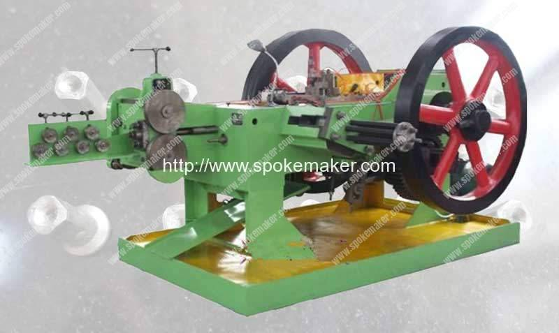 Automatic Spoke Nipple Rivet Shape Making Machine